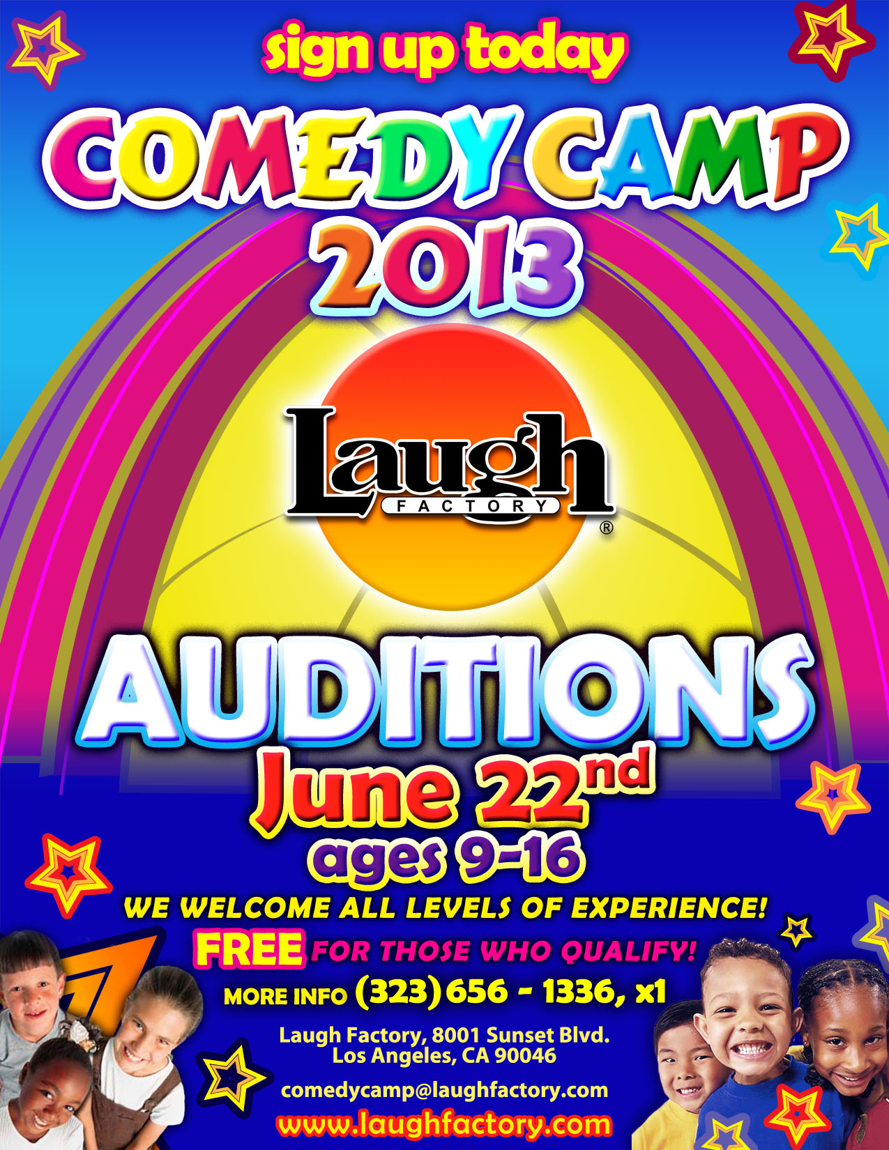 Comedy Camp 2013 Flyer
